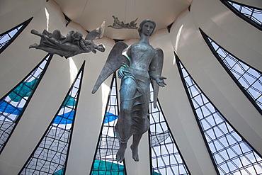 Angel sculptures, Alfredo Ceschiatti, Metropolitan Cathedral, UNESCO World Heritage Site, Brasilia, Federal District, Brazil, South America