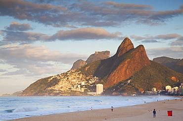 Ipanema beach, dawn, Rio de Janeiro, Brazil, South America