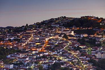 View of Diamantina. UNESCO World Heritage Site, at sunset, Minas Gerais, Brazil, South America