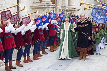 Medieval festival of La Quintana, Ascoli Piceno, Le Marche, Italy, Europe