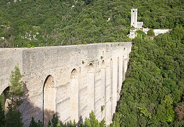 Ponte delle Torri, Spoleto, Umbria, Italy, Europe
