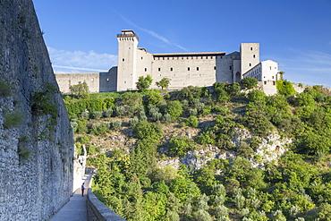 Rocca Albornoziana and Ponte delle Torri, Spoleto, Umbria, Italy, Europe