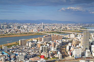 View of Osaka, Kansai, Japan, Asia