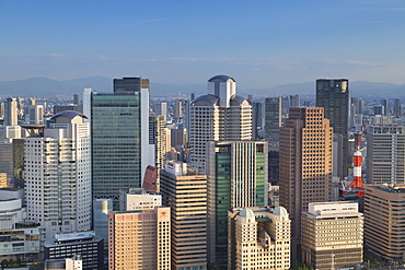 View of skyscrapers of Kita, Osaka, Kansai, Japan, Asia