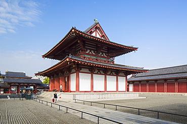 Shitenno-ji Temple, Tennoji, Osaka, Kansai, Japan, Asia