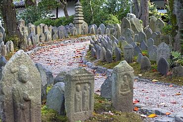 Holy stones at Gangoji Temple, UNESCO World Heritage Site, Nara, Kansai, Japan, Asia