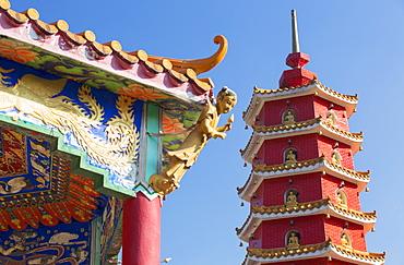 Pagoda at Ten Thousand Buddhas Monastery, Shatin, New Territories, Hong Kong, China, Asia