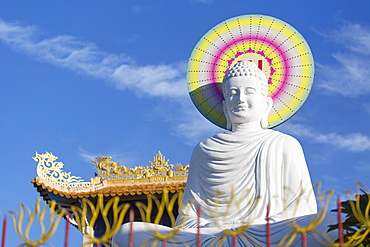Statue at Vien Minh Pagoda, Ben Tre, Mekong Delta, Vietnam, Indochina, Southeast Asia, Asia