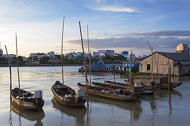 Boats on Can Tho River, Can Tho, Mekong Delta, Vietnam, Indochina, Southeast Asia, Asia