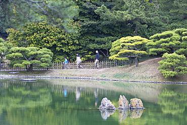 People at Ritsurin-koen, Takamatsu, Shikoku, Japan, Asia