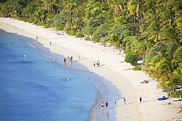 Beach at Mana Island Resort, Mana Island, Mamanuca Islands, Fiji, South Pacific, Pacific