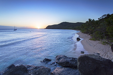 Waya Island at sunset, Yasawa Islands, Fiji, South Pacific, Pacific