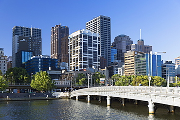 Melbourne skyline along Yarra River, Melbourne, Victoria, Australia, Pacific