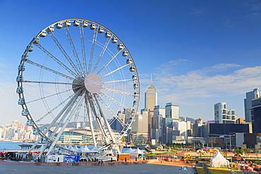 Ferris wheel, Central, Hong Kong Island, Hong Kong, China, Asia