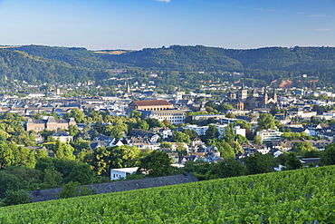 View of Trier at dawn, Trier, Rhineland-Palatinate, Germany, Europe