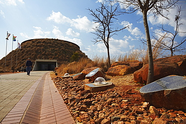 People at Maropeng Visitors Centre, Cradle of Humankind, UNESCO World Heritage Site, Gauteng, South Africa, Africa