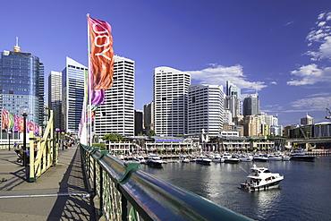 Pyrmont Bridge, Darling Harbour, Sydney, New South Wales, Australia, Pacific