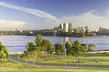 View across Sydney Harbour from Barangaroo Reserve, Sydney, New South Wales, Australia, Pacific