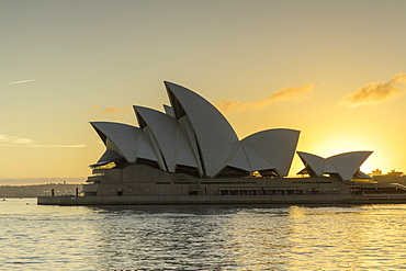 Sydney Opera House at sunrise, UNESCO World Heritage Site, Sydney, New South Wales, Australia, Pacific