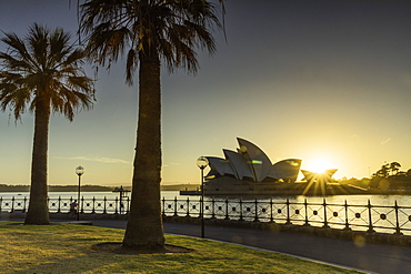 Sydney Opera House at sunrise, Sydney, New South Wales, Australia, Pacific