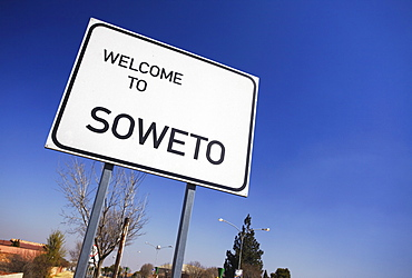 Soweto road sign, Soweto, Johannesburg, Gauteng, South Africa, Africa