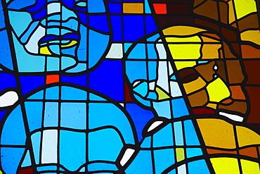 Stained glass window, Regina Mundi Catholic Church, scene of Soweto uprising, Soweto, Johannesburg, Gauteng, South Africa