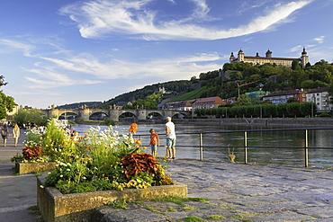 Marienberg Fortress and River Main, Wurzburg, Bavaria, Germany, Europe