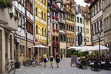 Weissergerbergasse Street, Nuremberg, Bavaria, Germany, Europe