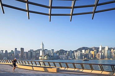 Tsim Sha Tsui promenade and skyline, Tsim Sha Tsui, Kowloon, Hong Kong, China, Asia