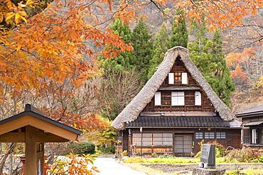 Traditional house of Suganuma, UNESCO World Heritage Site, Gokayama, Toyama Prefecture, Honshu, Japan, Asia