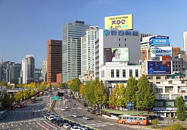 Skyscrapers and traffic, Seoul, South Korea, Asia