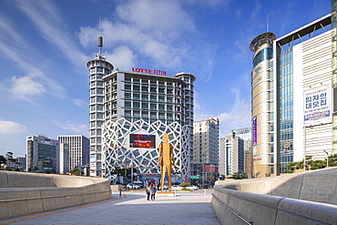 Dongdaemun Design Plaza and Lotte Fitin Mall, Seoul, South Korea, Asia