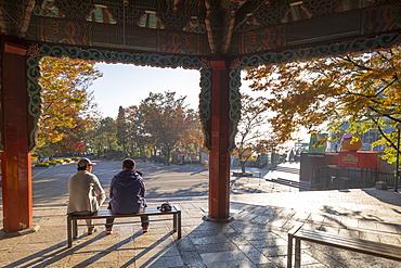Pavilion in Namsan Park, Seoul, South Korea, Asia