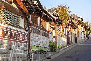 Traditional houses in Bukchon Hanok village, Seoul, South Korea, Asia