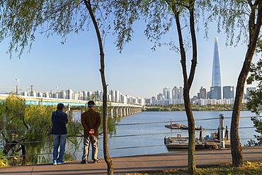 Lotte World Tower and Nam River, Seoul, South Korea, Asia