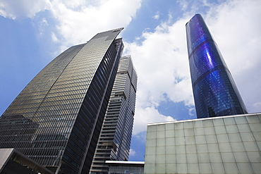 International Finance Centre (IFC) and International Finance Place, Zhujiang New Town area, Guangzhou, Guangdong, China, Asia