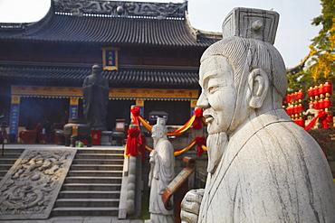 Statue in Confucius Temple, Fuzi Miao area, Nanjing, Jiangsu, China, Asia