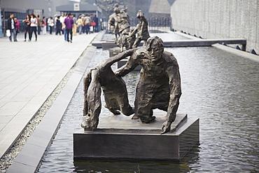 Statues at Memorial to the Nanjing Massacre, Nanjing, Jiangsu, China, Asia