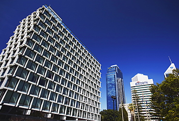 Council House and downtown skyscrapers, Perth, Western Australia, Australia, Pacific