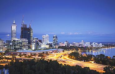 View of city skyline, Perth, Western Australia, Australia, Pacific