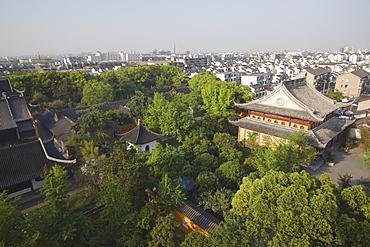 View of Suzhou from Beisi Ta Pagoda, Suzhou, Jiangsu, China, Asia