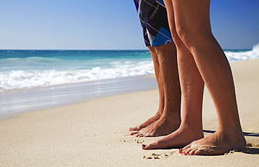 Couple standing on Floreat Beach, Perth, Western Australia, Australia, Pacific