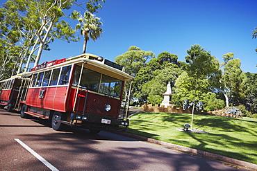 Perth tourist tram in King's Park, Perth, Western Australia, Australia, Pacific