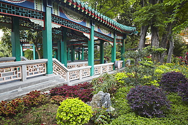 Gardens of Sik Sik Yuen Temple, Wong Tai Sin, Kowloon, Hong Kong, China, Asia