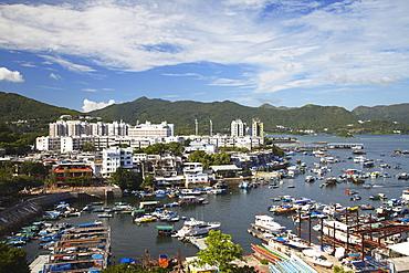 View of Sai Kung harbour, New Territories, Hong Kong, China, Asia