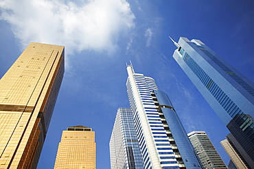 CITIC Plaza and skyscrapers, Tianhe, Guangzhou, Guangdong Province, China, Asia