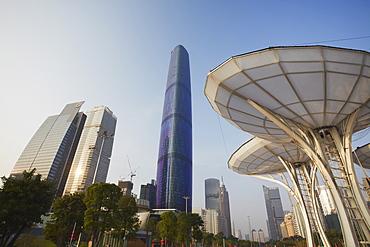 Guangzhou International Finance Centre, Zhujiang New Town area, Tianhe, Guangzhou, Guangdong Province, China, Asia