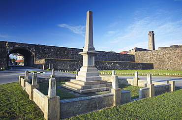 War memorial outside walls of the Fort, Galle, Southern Province, Sri Lanka, Asia