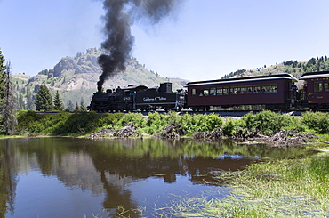 New Mexico and Colorado, Cumbres and Toltec Scenic Railroad, National Historic Landmark, narrow guage, steam powered locomotives, United States of America, North America