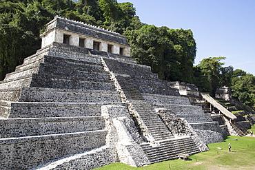 Temple of Inscriptions, Palenque Archaeological Park, UNESCO World Heritage Site, Palenque, Chiapas, Mexico, North America